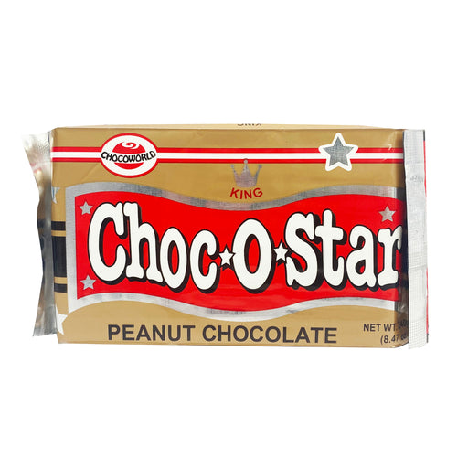 Package King Choc O Star Peanut Milk Chocolate 8.47oz Front