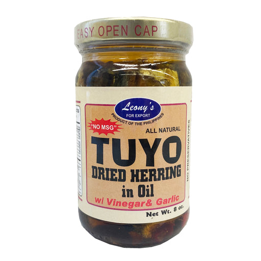 Leony's Tuyo Dried Herring in Oil with Vinegar and Garlic 8oz Image 1