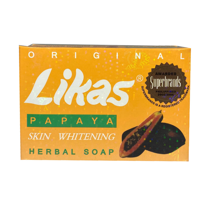 Likas Papaya Skin Whitening Soap 4.76oz Front