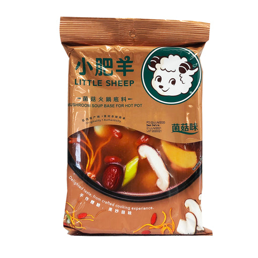 Little Sheep Hot Pot Soup Base Mushroom Flavor 4.93oz Front