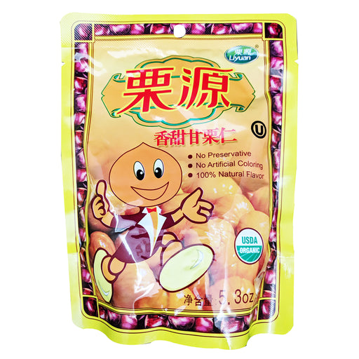 Liyuan Roasted Organic Chestnuts 5.3oz Front