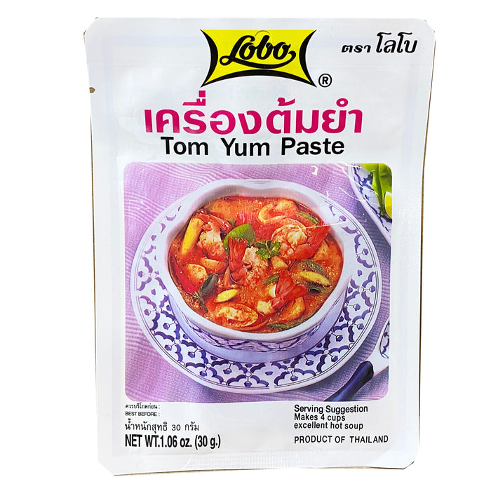 Package Lobo Tom Yam Paste 1.06oz Front