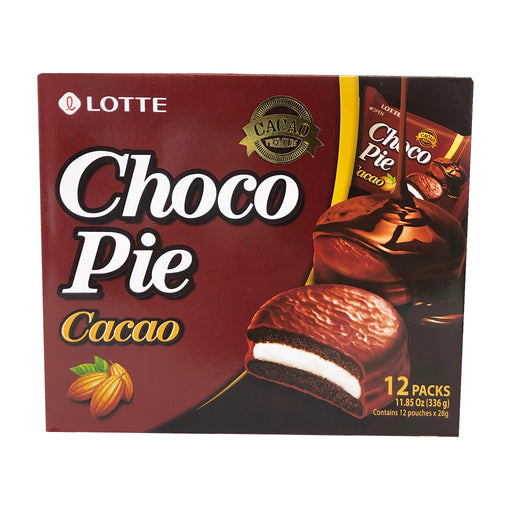 Package Lotte Choco Pie - Cacao Flavor 11.85oz Front