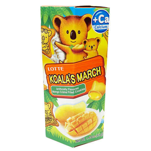 Lotte Koala's March Chocolate Mango Cookies 1.45oz Front