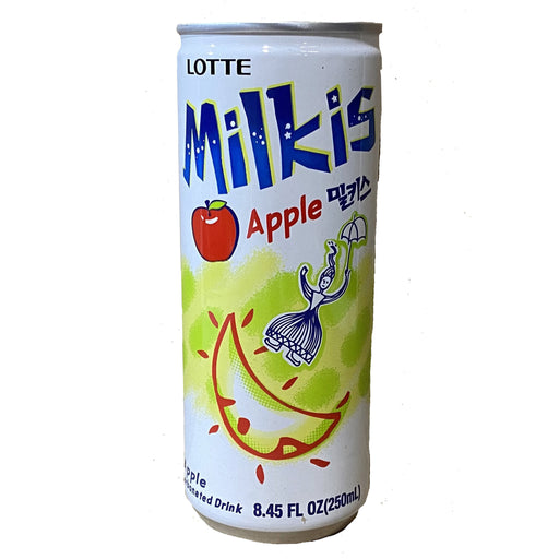 Lotte Milkis Drink Can Apple Flavor 8.45oz Front