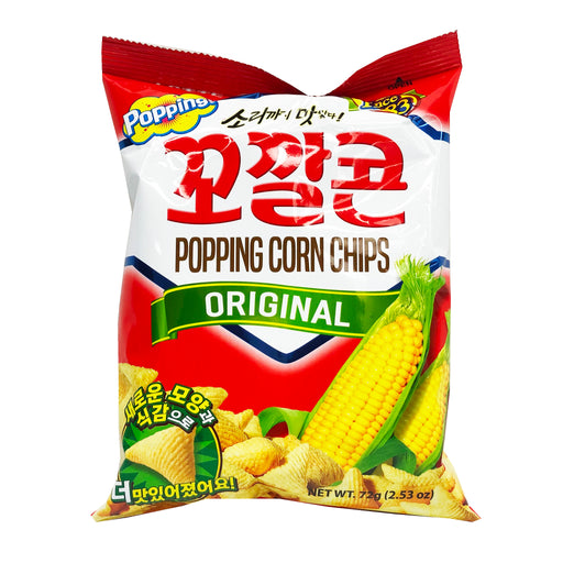 Lotte Popping Corn Chips - Original Flavor 2.53oz Front