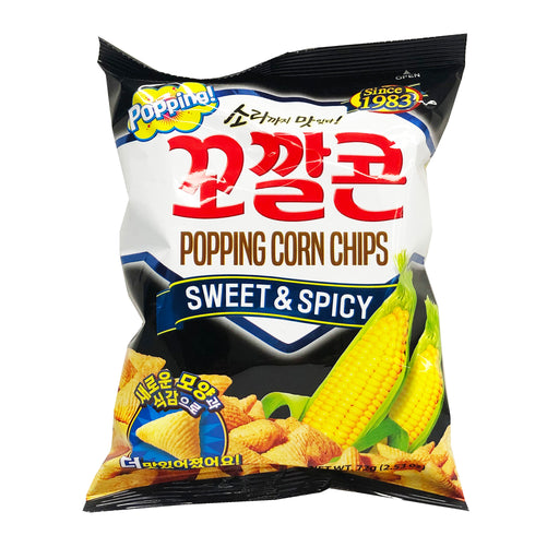 Lotte Popping Corn Chips - Sweet and Spicy Flavor 2.53oz image 1