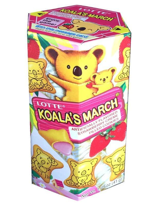 Lotte Koala's March Strawberry Cookies 1.45oz Front
