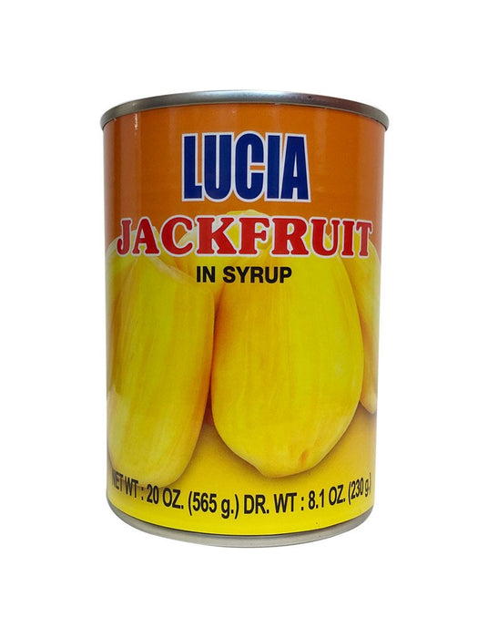 Lucia Yellow Jackfruit In Syrup 20oz Front