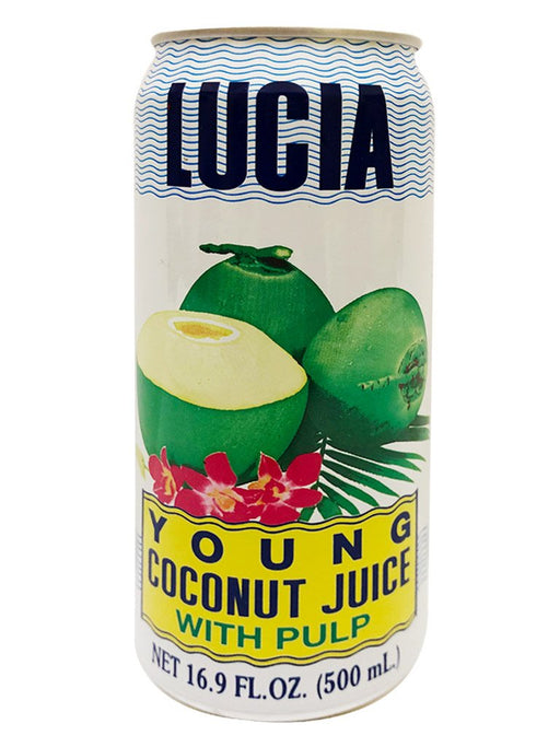 Lucia Coconut Juice with Pulp 16.9oz Image 1