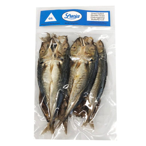 Lucia Dried Salted Shortfin Scad - Galunggong 8oz Image 1