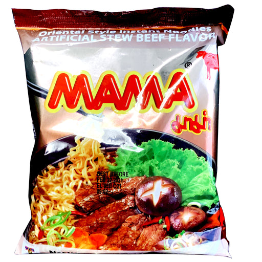Mama Oriental Style Noodle Beef Flavor 2.12oz Front