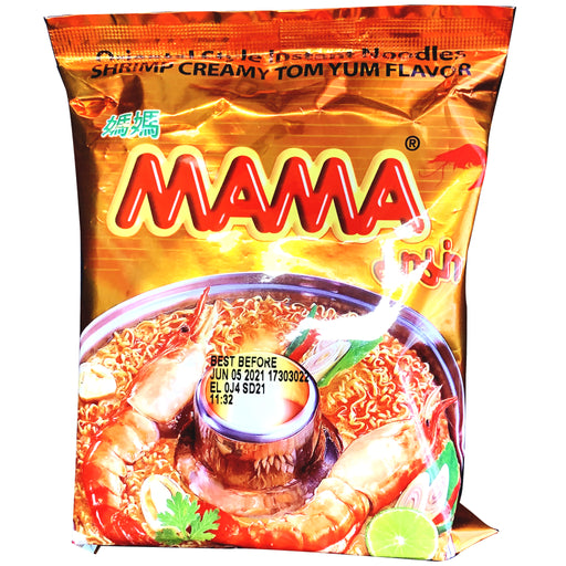Package Mama Oriental Style Noodle Shrimp Creamy Tom Yum Flavor 1.94oz Front