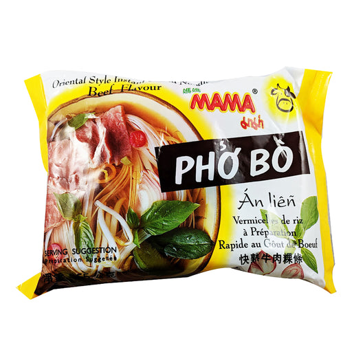 Mama Pho Bo Instant Rice Noodle - Beef Flavor 1.94oz Front