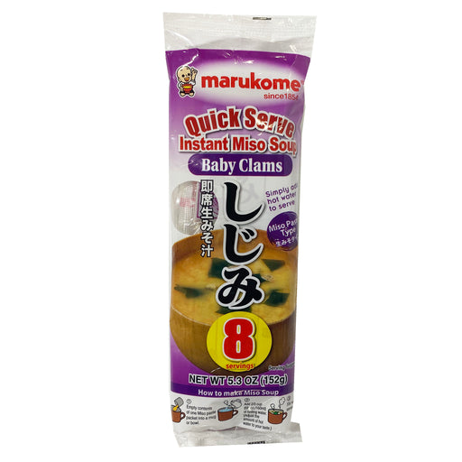 Marukome Instant Miso Soup Baby Clams 5.2oz Image 1