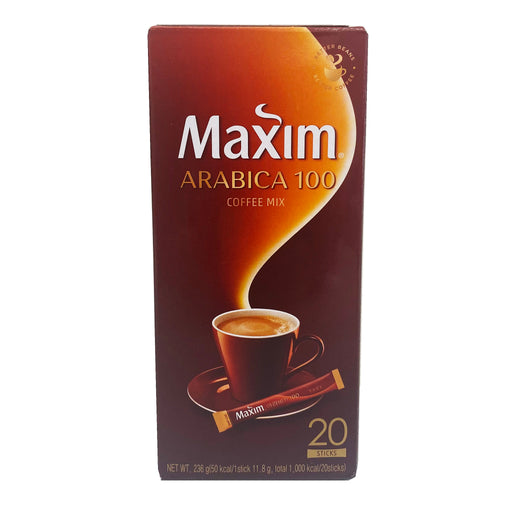 Package Maxim Coffee Mix - Arabica 100 20 Sticks 8.46oz Front