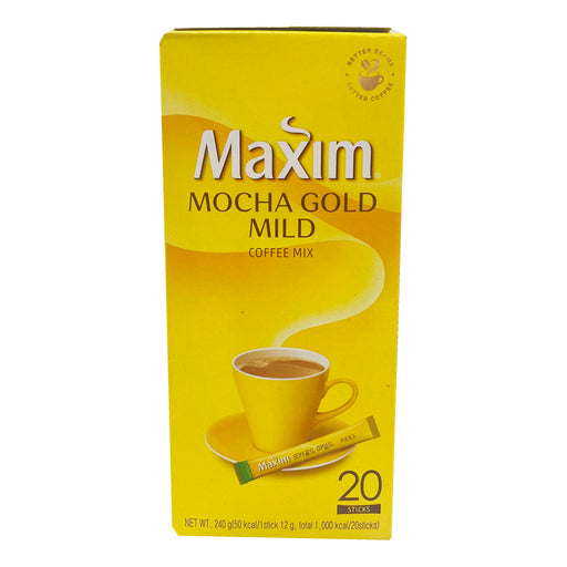 Package Maxim Coffee Mix - Mocha Gold Mild 20 Sticks 8.46oz Front
