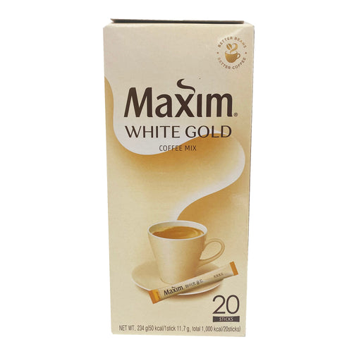Package Maxim Coffee Mix - White Gold 20 Sticks 8.46oz Front