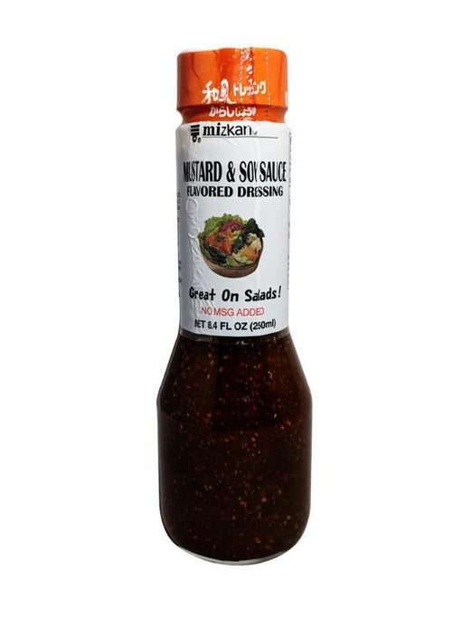 Package Mizkan Mustard & Soy Sauce Flavored Dressing 8.4oz Front