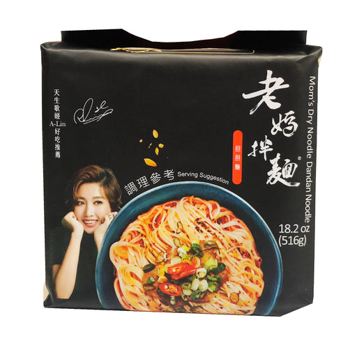 Package Mom's Dry Noodle - Dandan Flavor 18.2oz Front