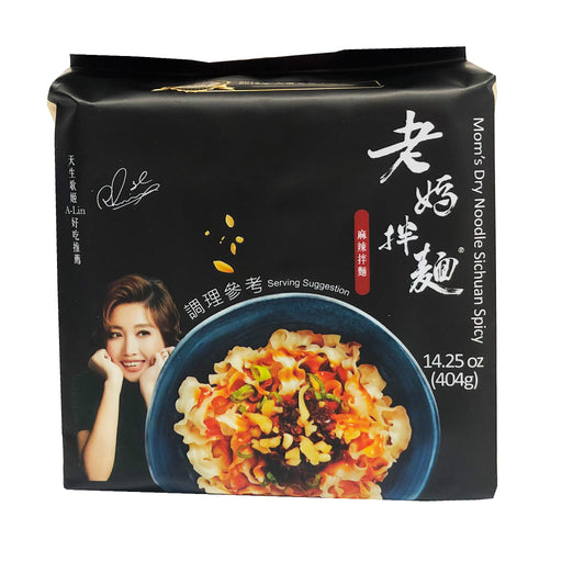 Package Mom's Dry Noodle - Sichuan Spicy Flavor 14.25oz Front