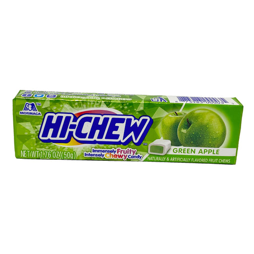 Morinaga Hi-Chew Chewy Candy - Green Apple Flavor 1.76oz Image 1