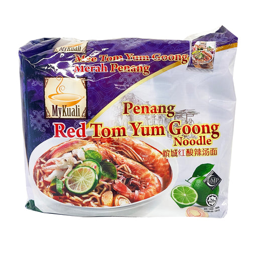 Package MyKuali Penang Red Tom Yum Goong Noodle 4 Pack 14.82oz image 1