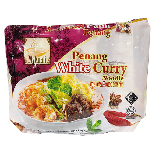 MyKuali Penang White Curry Noodle 4 Pack 15.52oz Front