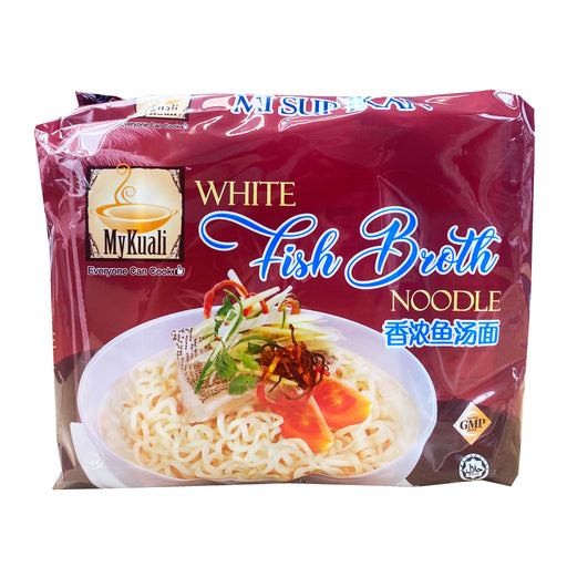 Package MyKuali White Fish Broth Noodle 4 Pack 15.52oz Front