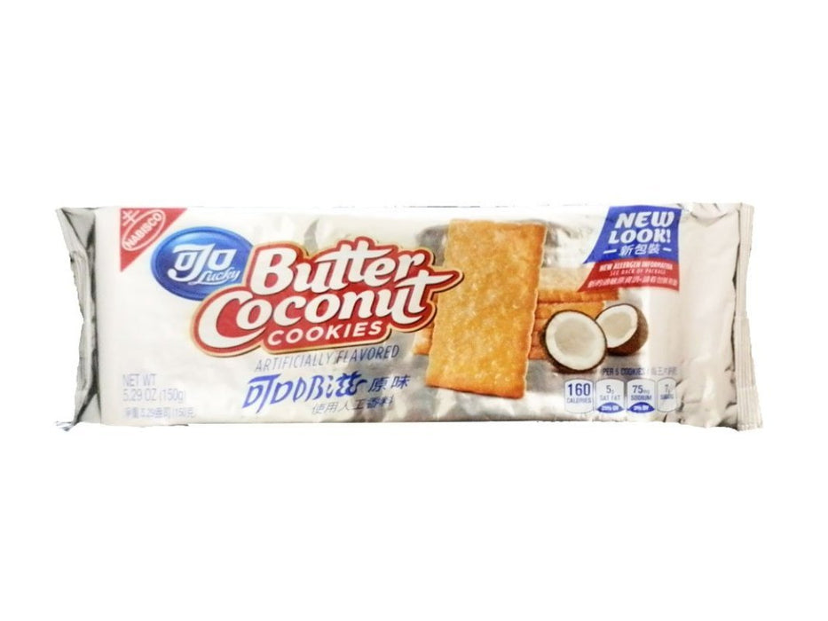 Nabisco Ojo Lucky Butter Coconut Cookies 5.29oz Front