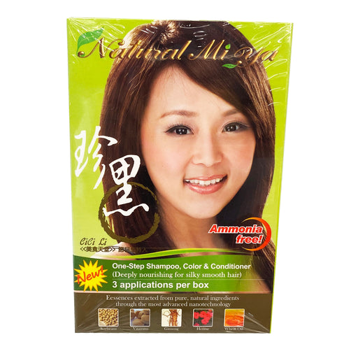 Package Natural Mi Ya Hair Color - Medium Brown 2.55oz Front