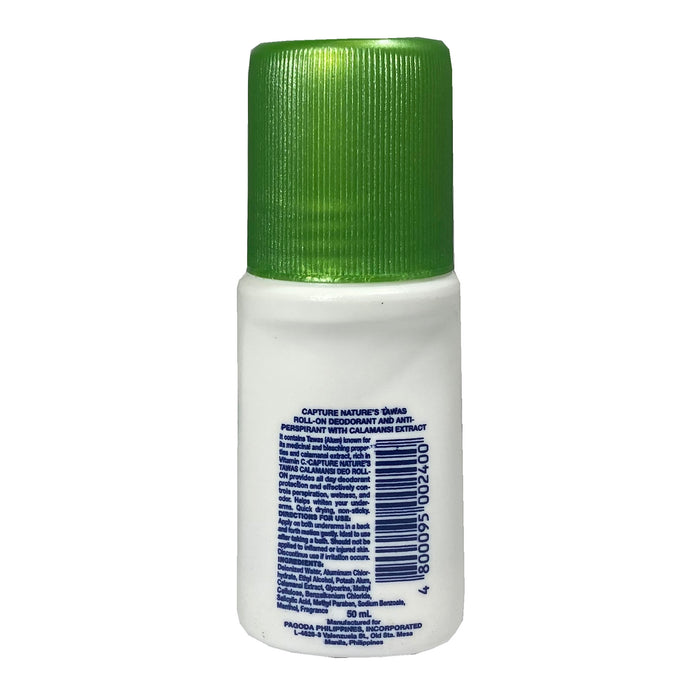 Package Nature's Tawas Deodorant Calamansi 1.69oz Back