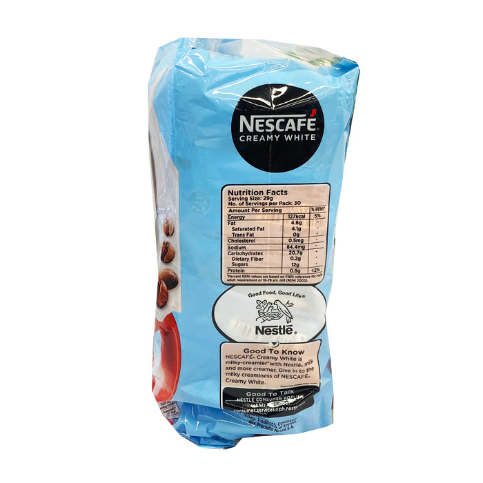 Package Nescafe Creamy White 30.6oz Back