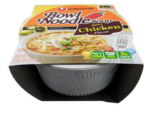 Nongshim Bowl Noodle Soup - Spicy Chicken Flavor 3.03oz Front