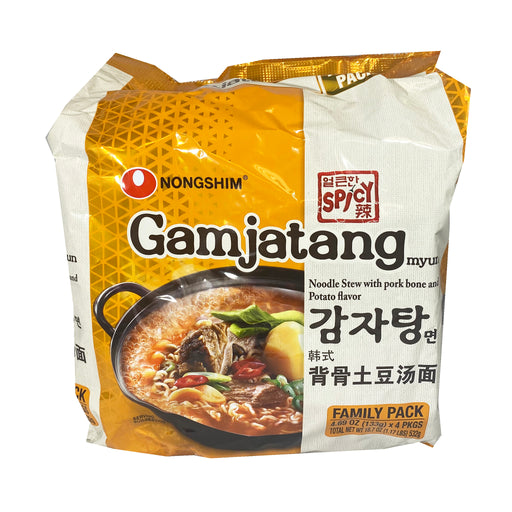 Nongshim Gamjatang Noodle Soup Family Pack 18.7oz Front