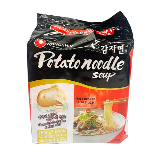 Nongshim Potato Noodle Soup Family Pack 3.52oz Front