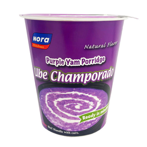 Nora Kitchen Ube Champorado in Cup 2.68oz Front