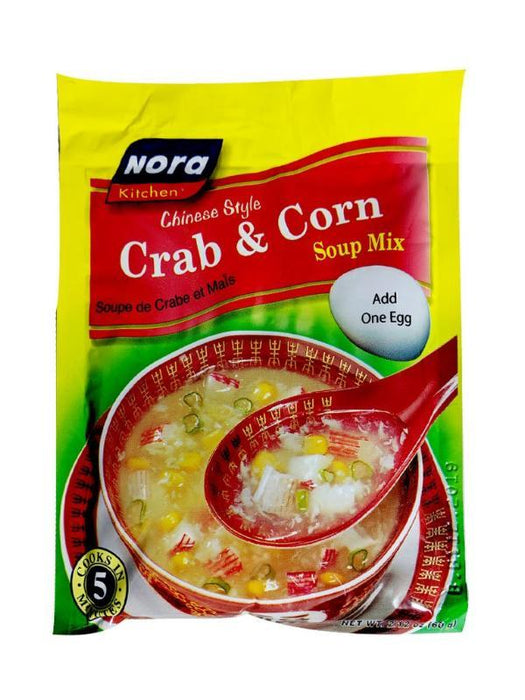 Nora Kitchen Soup Mix - Crab and Corn 2.11oz Image 1