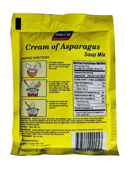 Nora Kitchen Soup Mix - Cream of Asparagus 2.46oz Image 2