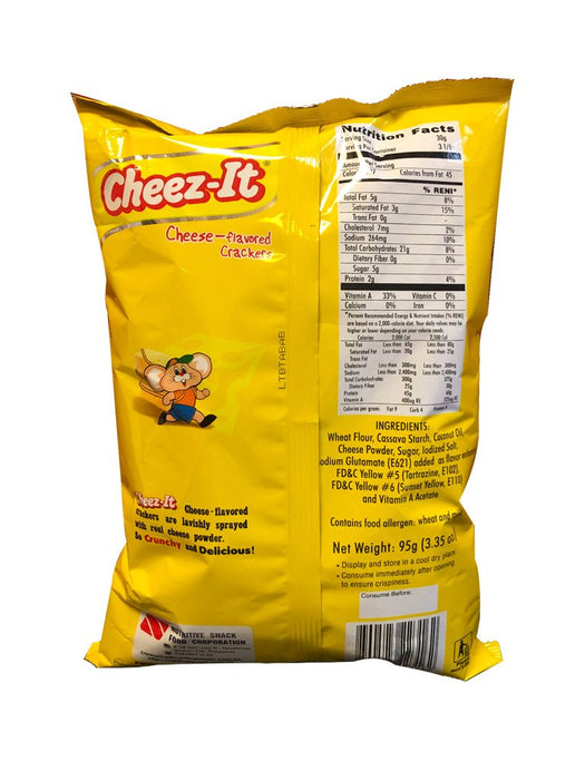 Nutri Snack Cheez It - Cheese Flavor 3.35oz Image 2
