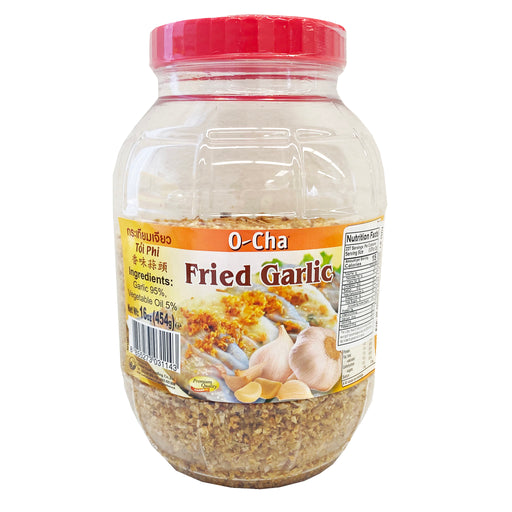 O-Cha Fried Garlic 16oz Image 1
