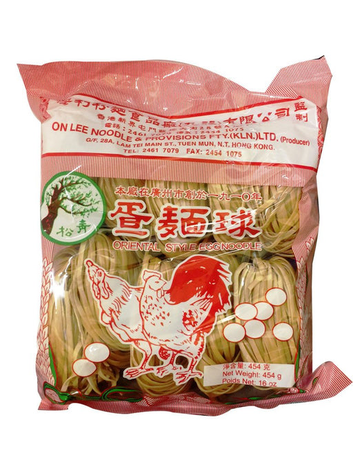 Package ON Lee Thin Egg Noodle 16oz Front
