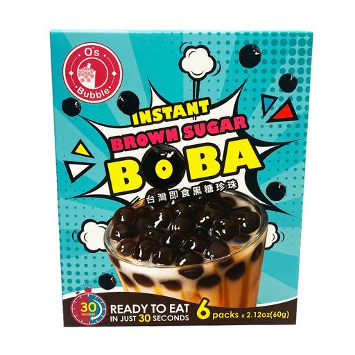 O's Bubble Instant Brown Sugar Boba 6 Pack 12.7oz Front