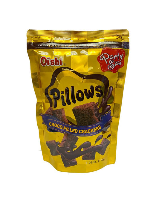 Oishi Pillows Chocolate Party Size 5.29oz Front