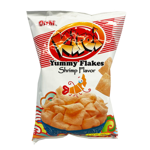 Package Oishi Kirei Yummy Flakes Shrimp Flavor 2.12oz front
