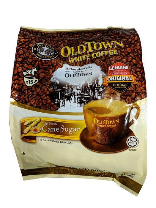 Package Old Town 3 In 1 White Coffee - Cane Sugar 19oz Front