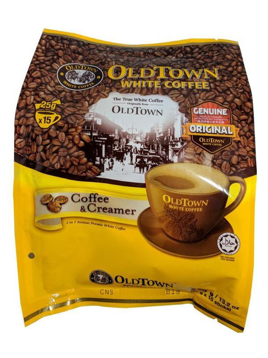 Old Town 2 In 1 White Coffee - Coffee & Creamer 13.2oz Front
