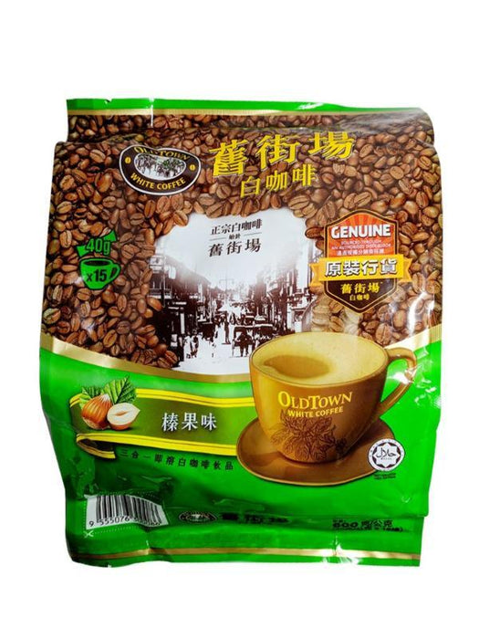 Old Town 3 In 1  White Coffee - Hazelnut Flavor 21.16oz Front