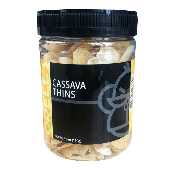 Orell's Cassava Thins 3oz Front