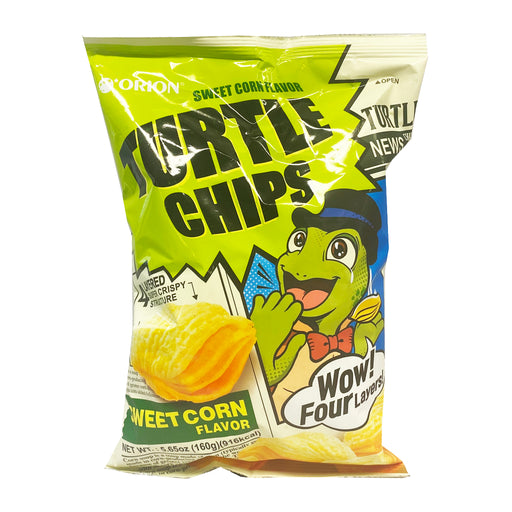 Orion Turtle Chips - Sweet Corn Flavor 5.65oz Front